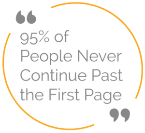 95% of people never continue past the first page