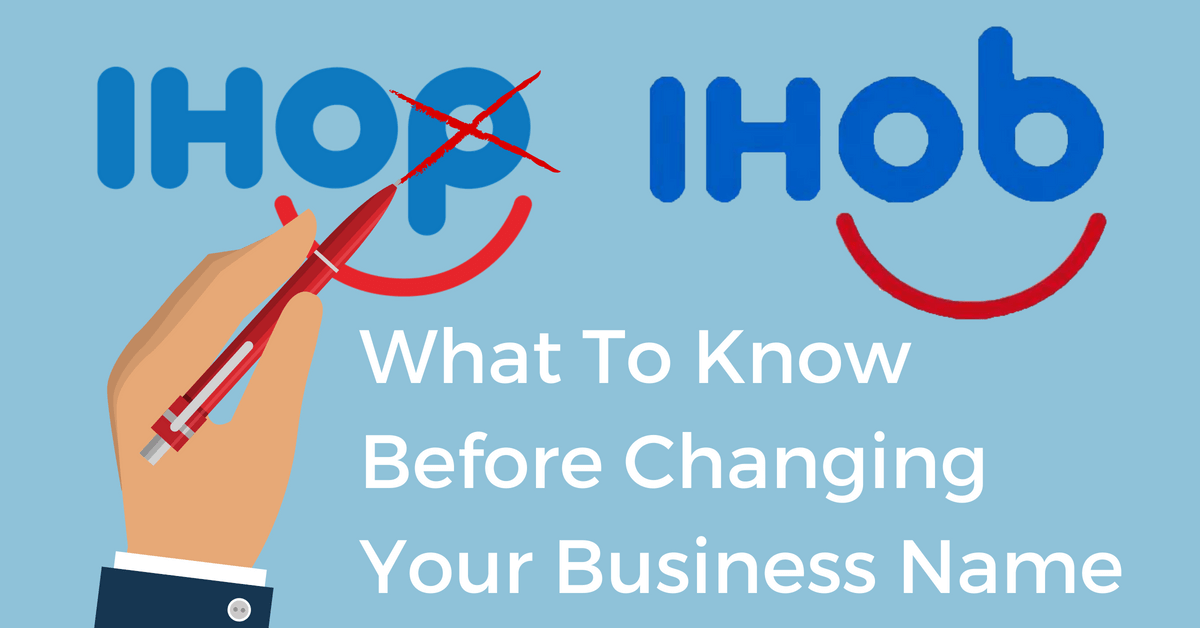 Changing your business name