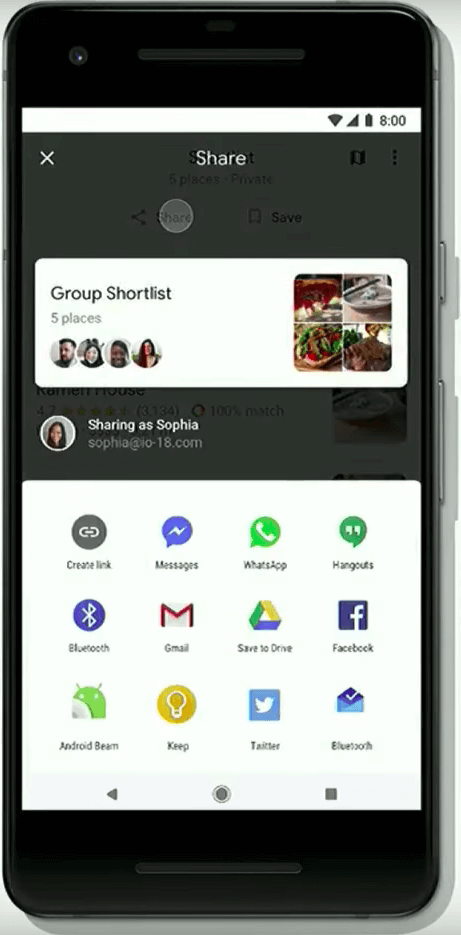 google maps update - group planning 1