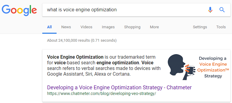 What is voice engine optimization