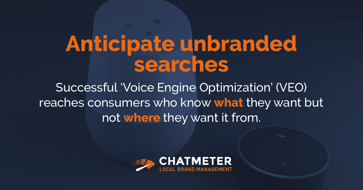 Unbranded Voice Search Strategies