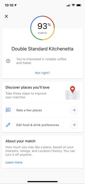 Your Match in Google Maps Listings