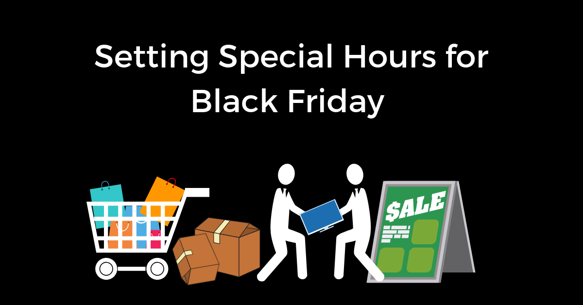 How to set Special Holiday Hours online