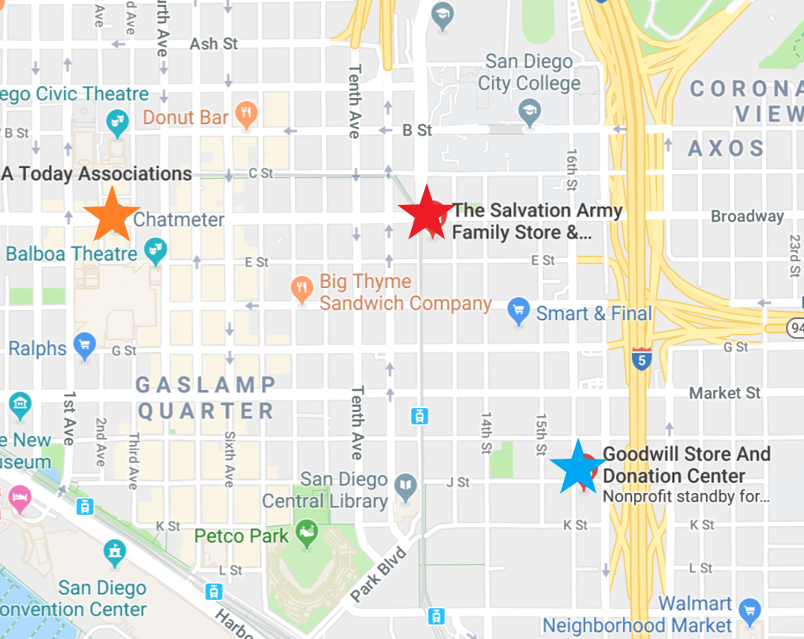 Chatmeter's nearby Salvation Army & Goodwill locations