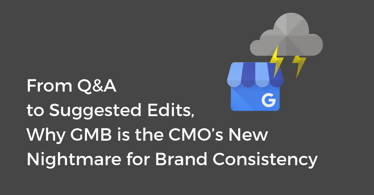 How CMO's Control GMB Q&A's & Suggested Edits