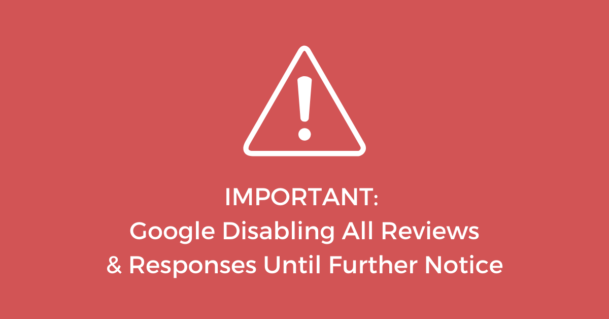 Google & Yelp Disable Reviews