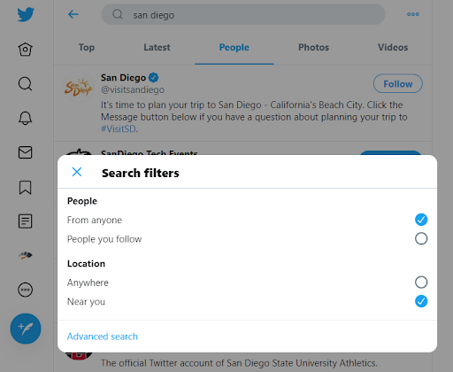 Twitter Search Filters