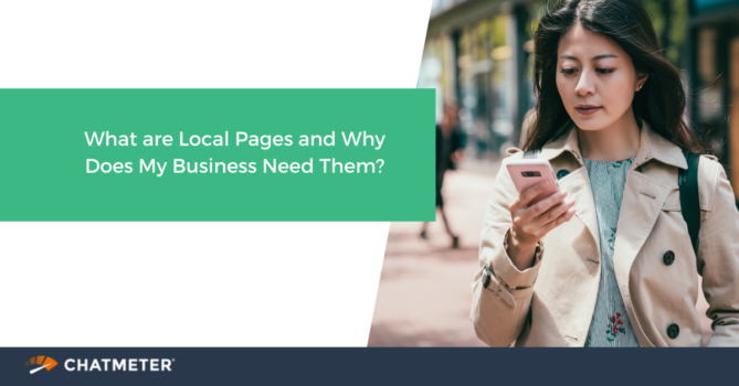 Blog cover photo of a woman looking at local pages on her phone