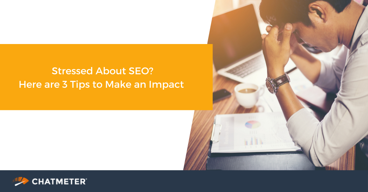 Blog cover - stressed about SEO?