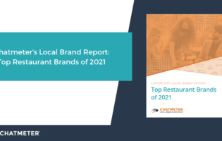 Blog cover featuring Chatmeter's Local Brand Report: Top Restaurant Brands 2021