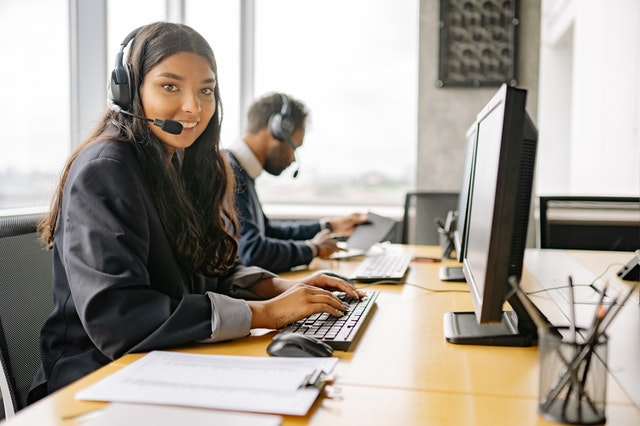 image of a woman in customer service